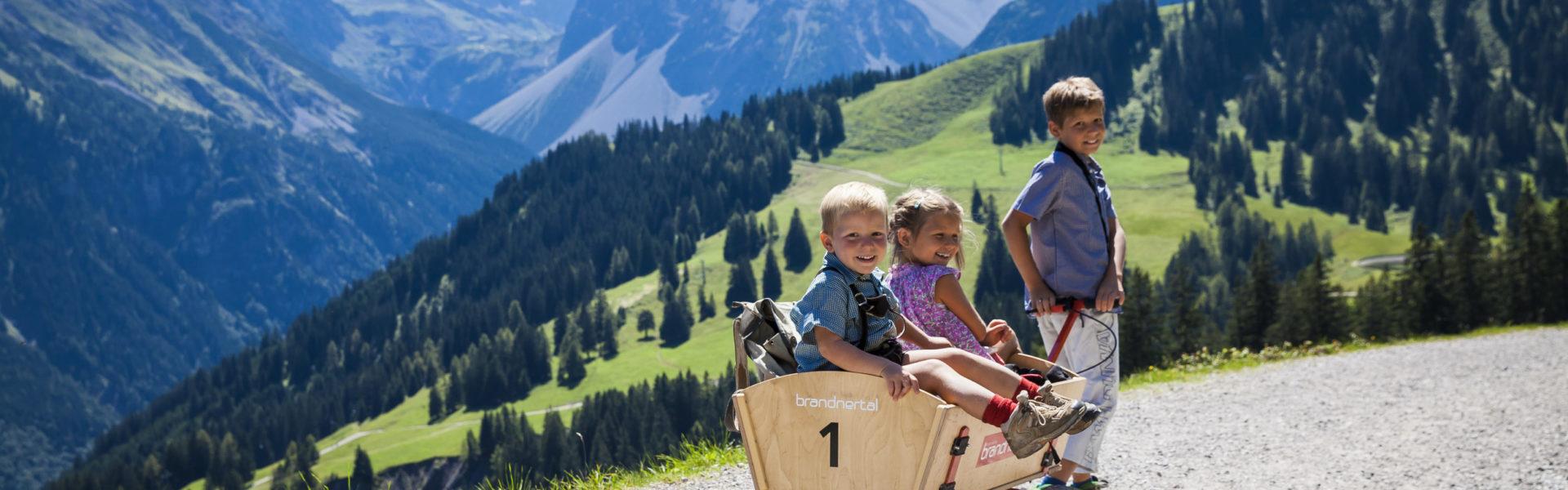 Familienwanderung Natursprünge, Familienausflug Brand © Bernhard Huber / Alpenregion Bludenz Tourismus GmbH
