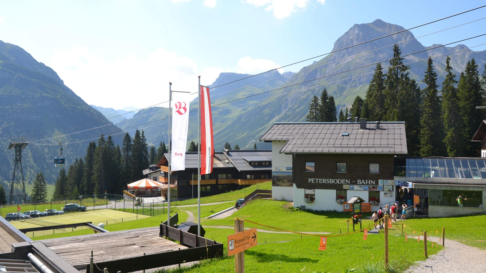 Bergbahn Oberlech - Start der Geocaching Tour in Lech