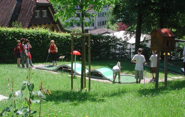 Minigolf bei der Schattenburg Feldkirch