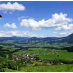 Ausblick von der Berghalde auf den Bregenzerwald