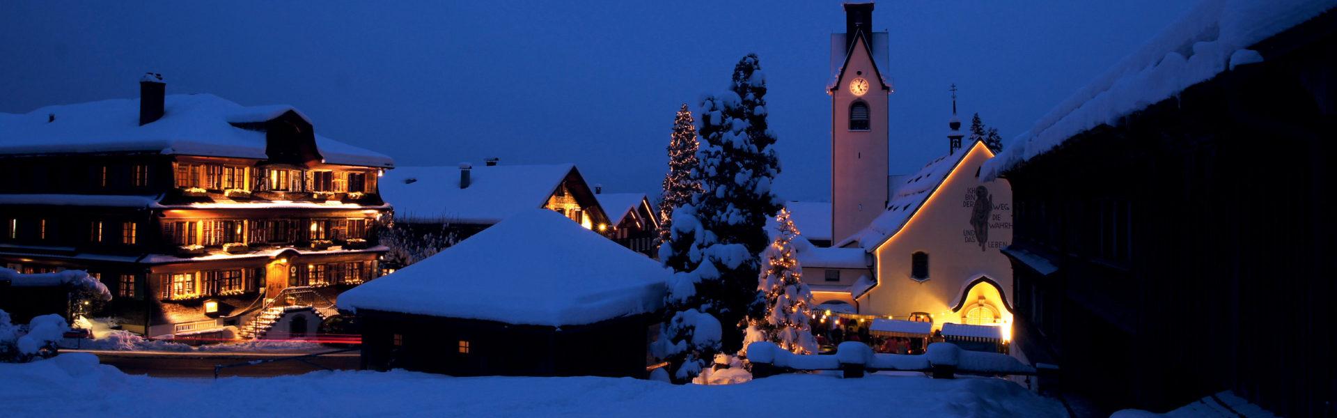 Weihnachtsmarkt in Schwarzenberg, Bregenzerwald (c) Ludwig Berchtold/Vorarlberg Tourismus