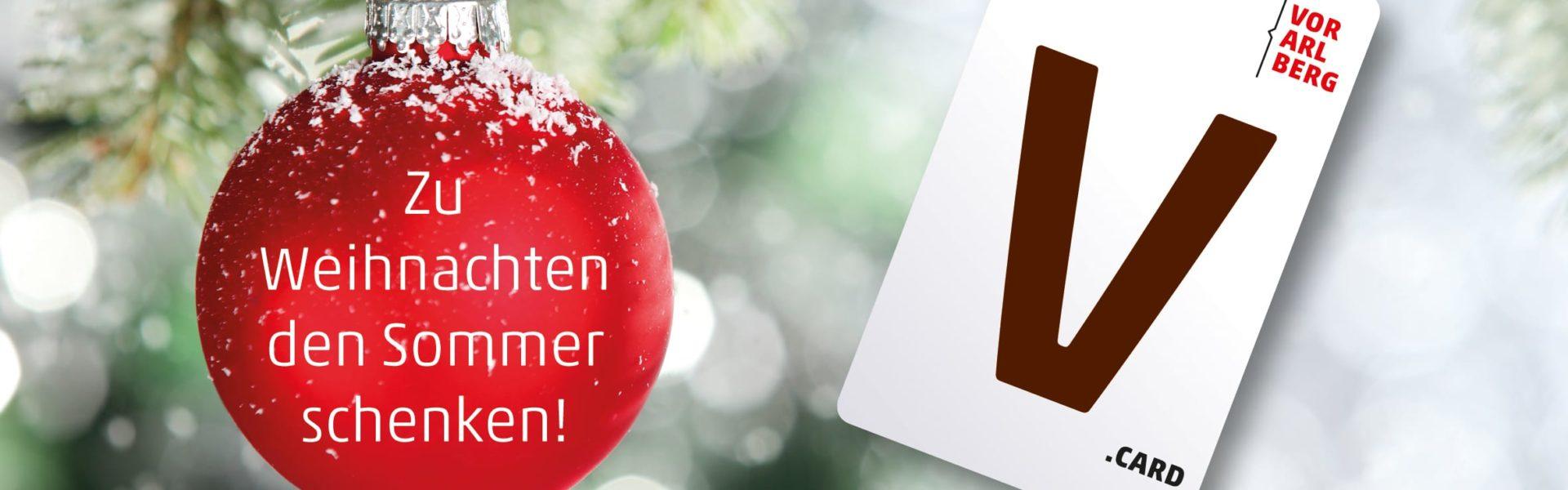 V-CARD zu Weihnachten schenken (c) iStock by Getty Images/sofiaworld