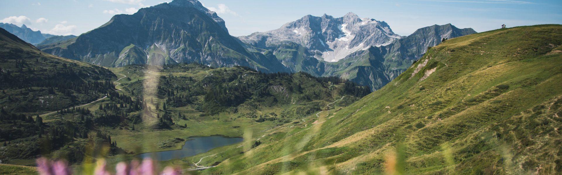 Blick auf Kalbelesee, Auf Min Weag mit der V-CARD unterwegs, Etappe 09 © Thomas Stanglechner / Vorarlberg Tourismus